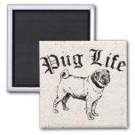 Pug Life Funny Dog Gangster Fridge Magnet