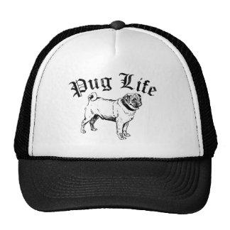 Pug Life Funny Dog Gangster Mesh Hat