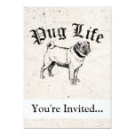 Pug Life Funny Dog Gangster 5x7 Paper Invitation Card