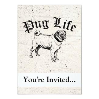 Pug Life Funny Dog Gangster Invitations