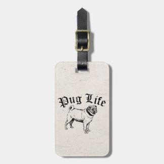 Pug Life Funny Dog Gangster Luggage Tag