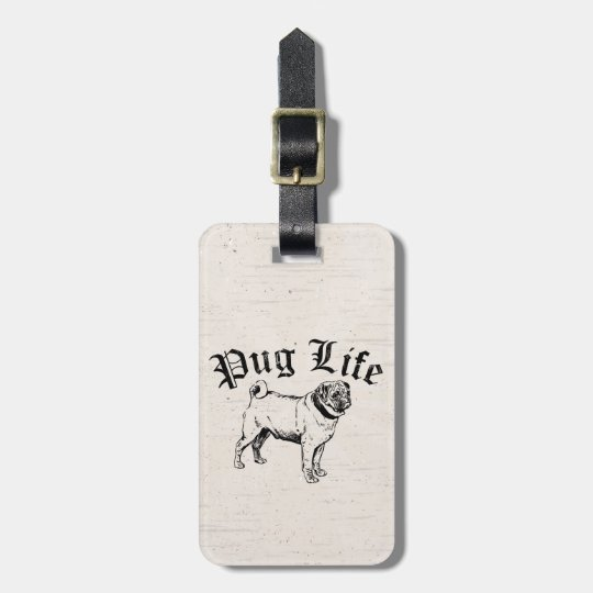 Pug Life Funny Dog Gangster Luggage Tag