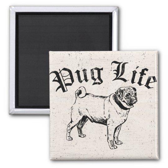 Pug Life Funny Dog Gangster Magnet