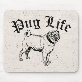 Pug Life Funny Dog Gangster Mouse Pad