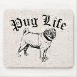 Pug Life Funny Dog Gangster Mousepads