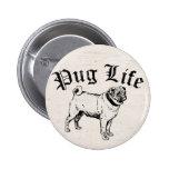 Pug Life Funny Dog Gangster Pin