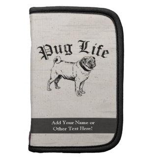 Pug Life Funny Dog Gangster Folio Planners