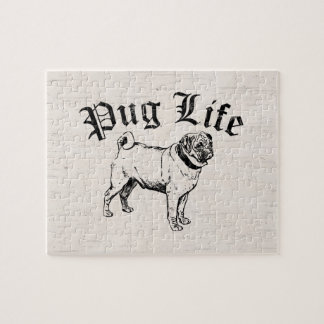 Pug Life Funny Dog Gangster Jigsaw Puzzles