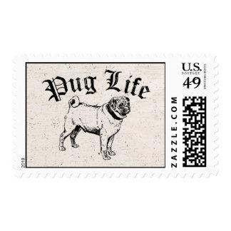 Pug Life Funny Dog Gangster Stamp