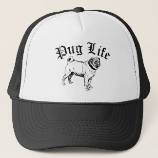Pug Life Funny Dog Gangster Trucker Hat