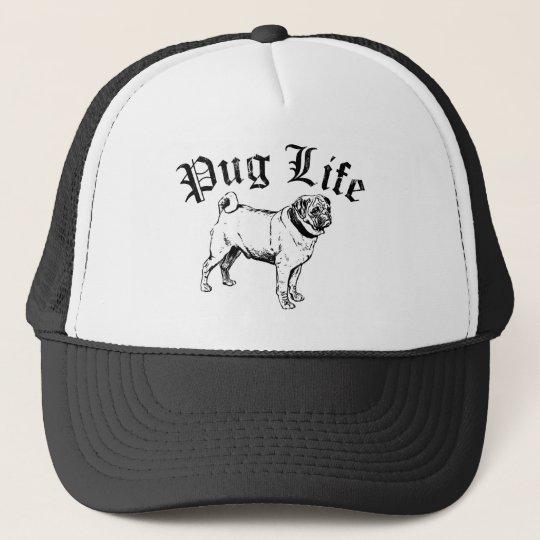Pug Life Funny Dog Gangster Trucker Hat