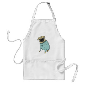 Pug Life - Funny Dog In A Sweater Apron