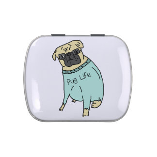 Pug Life - Funny Dog In A Sweater Candy Tin