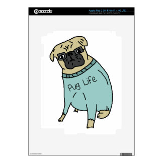 Pug Life - Funny Dog In A Sweater Decal For iPad 3