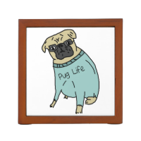 Pug Life - Funny Dog In A Sweater Pencil/Pen Holder