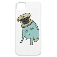 Pug Life - Funny Dog In A Sweater iPhone 5 Case
