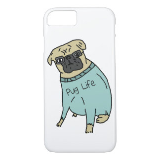Pug Life - Funny Dog In A Sweater iPhone 7 Case