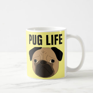PUG LIFE, Funny Pug dog Coffee Mugs