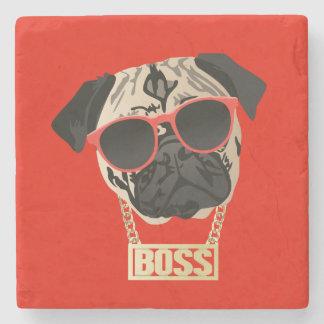 Pug Life - I am the Boss Coaster for Pug Parents