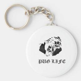 Pug Life Keychain