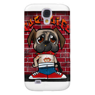 Pug Life products. Cute pug thug products Galaxy S4 Case