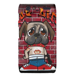 Pug Life products. Cute pug thug products Motorola Droid RAZR Case