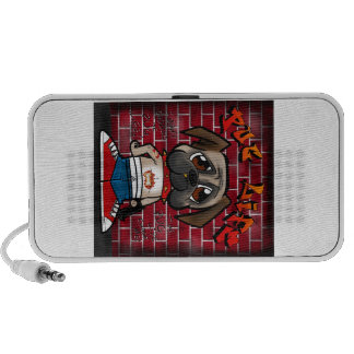 Pug Life products. Cute pug thug products Portable Speakers