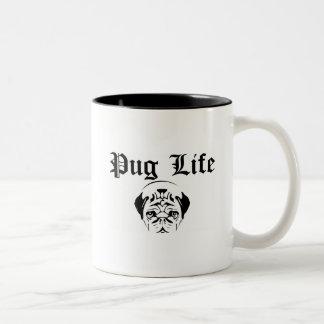 Pug Life Two-Tone Coffee Mug