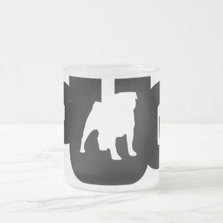 Pug Logo - Frozen 10 oz crystal Cup grinding