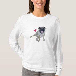 Pug Long Sleeved Hooded Shirt