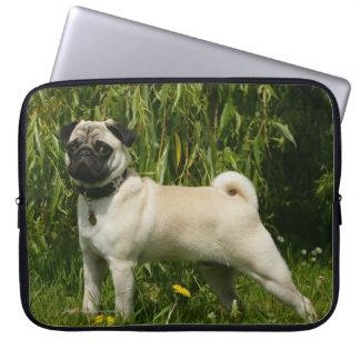 Pug Lookign at Camera Computer Sleeve