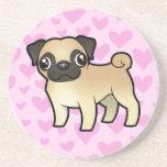 Pug Love Beverage Coasters