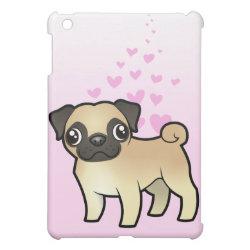 Case Savvy iPad Mini Glossy Finish Case with Pug Phone Cases design