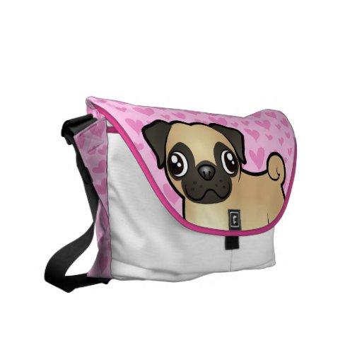 Pug Love Commuter Bag
