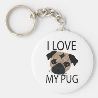 Pug Love! Keychain