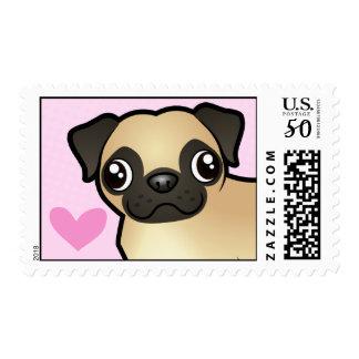 Pug Love Postage