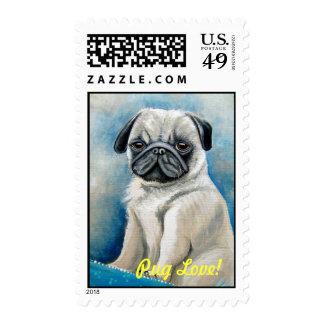 Pug Love Postage Stamps