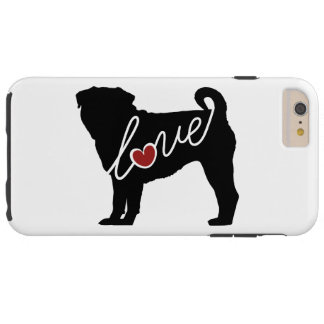 Pug Love Tough iPhone 6 Plus Case