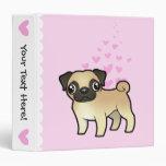 Pug Love Vinyl Binders