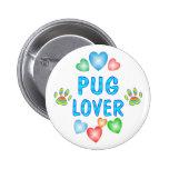 PUG LOVER BUTTON
