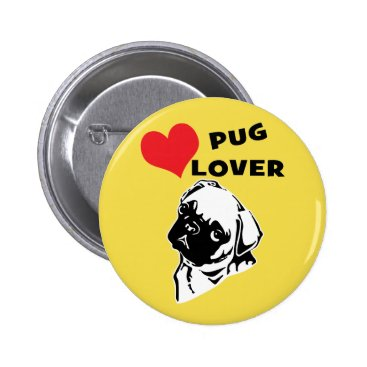 Professional Business Pug Lover Button