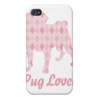Pug Lover Pink Argyle iPhone 4/4S Covers