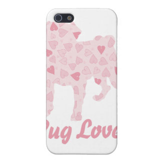Pug Lover Pink Hearts iPhone 5 Case