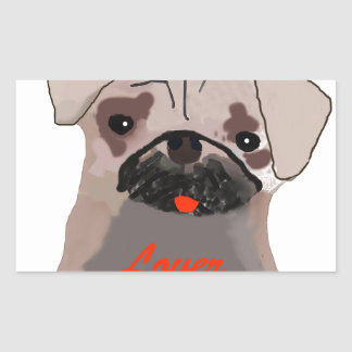 Pug Lover Rectangle Stickers