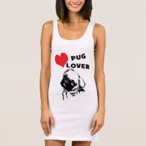 Pug Lover T-shirt Dress