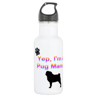 pug mama water bottle