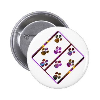 PUG Mark Assembly with colored stones Button