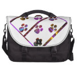 PUG Mark Assembly with colored stones Laptop Messenger Bag