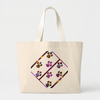 PUG Mark Assembly with colored stones Large Tote Bag