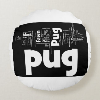 pug mashup.png round pillow
